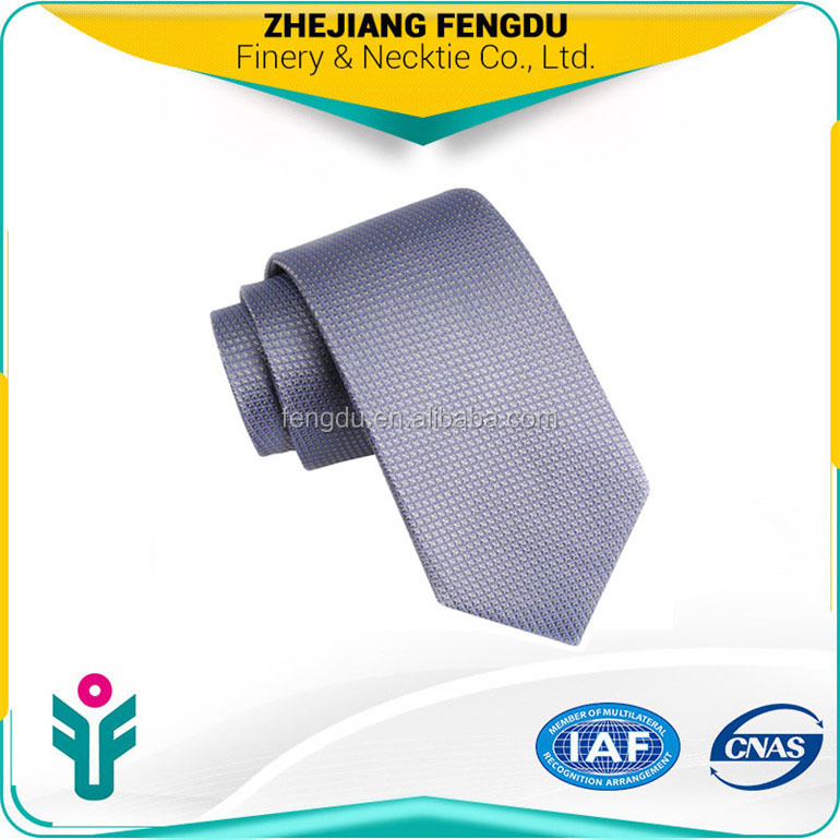 pure silk purple and grey neated brand name necktie