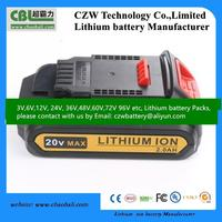 Dewaltt battery drill 12V 1.5Ah Li-ion replacement lthium battery pack