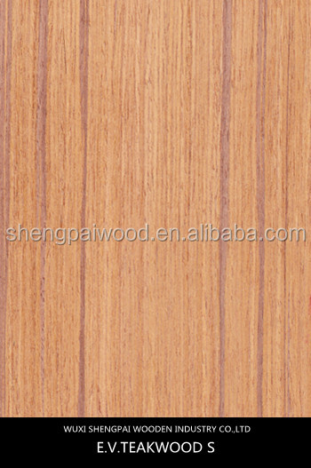 2016 Hot Sale Types of Artificial Teak Wood Veneer Sheets Skin