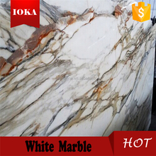 natural white calacatta gold marble floor tile