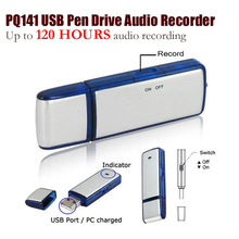 Rechargeable/USB Mini Hidden Spy Flash Drive Disk Digital Audio Voice Recorder /Voice Portable Dictaphone Recorder PQ141