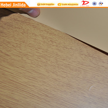 fashionable wood grain paper with PVCPU coating for school bags from China polyester fabric