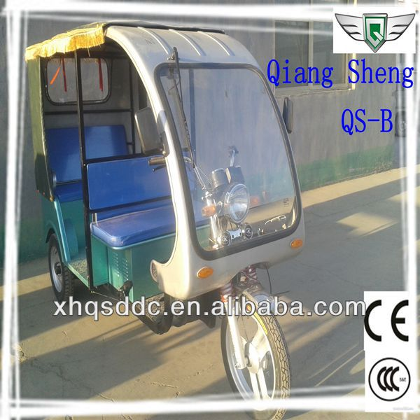 China 2014 New CCC Passenger Cargo Tricycle With Roof For Sale