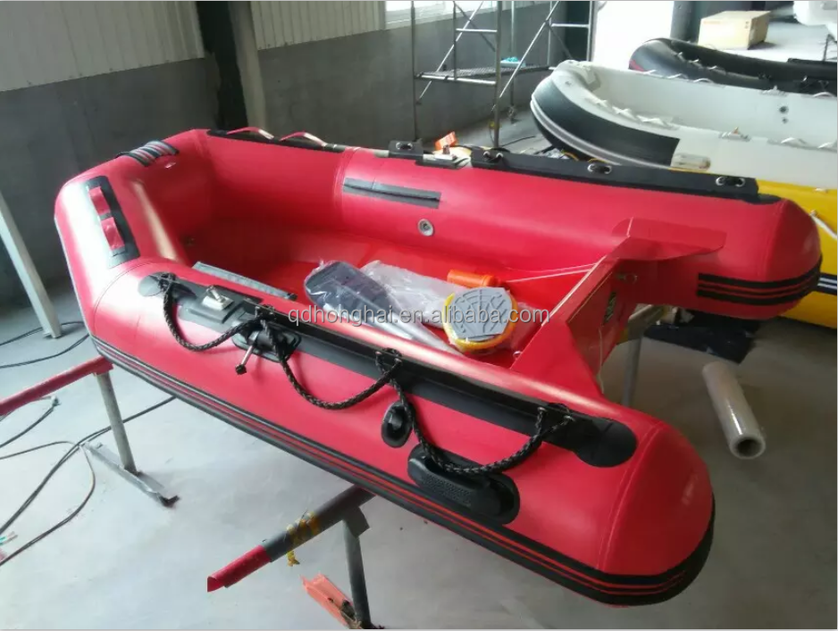 2.5m red Free Shipping Cheap Custom PVC Inflatable Boat for leisure fishing