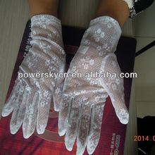 fashion white lace gloves cheap price high quality
