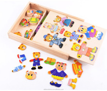 High Quality Beleduc Puzzle Wooden Educational Toys For Children Dressing and Learning Puzzle