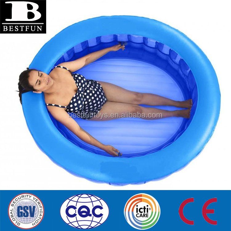eco-friendly vinyl cocoon shape inflatable birth pool with two handles safety blow up pregnant brithing pool
