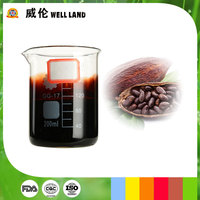 Dark brown water soluble cocoa food pigment liquid