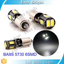 Good quality white tail lamp 6SMD 5630 Led canbus BA9S BA9XS 12V car accessories led car tail light