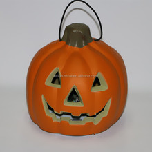 promotional items for 2016 plastic christmas decoration led hanging pumpkin in stock