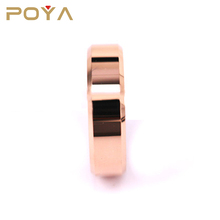 POYA Jewelry blank tungsten carbide wedding band ring 6mm for men women18K rose gold plated
