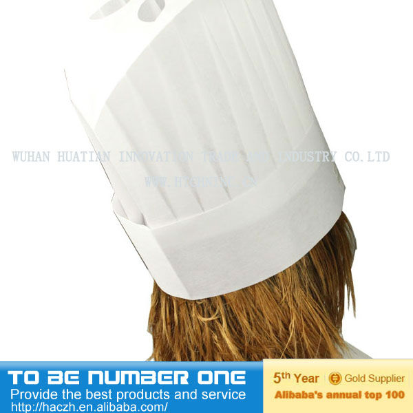 2013 Hot sale New Fashion Black Cotton Catering Cooking Chef Hat