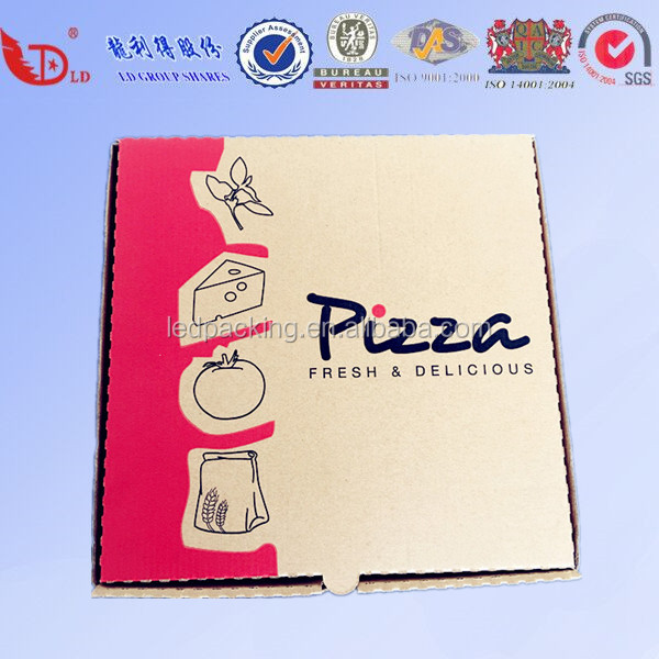 "10"" 12"" 14"" 16"" 18"" 20"" 24"" inches Pizza Boxes Printed Recycled Paper Customized Pizza Box"
