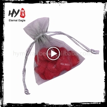 Wholesale mini satin organza drawstring bag with factory price