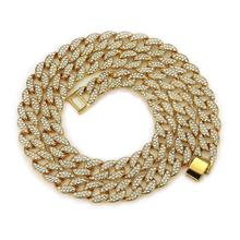 Many Size Alloy Full Diamond Cuban Chain Men Fashion Exaggerate Bold Particularly <strong>Necklace</strong>