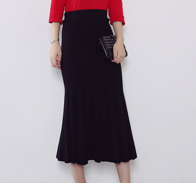 OEM Maxi Winter Fashion Designer Ladies Black Long Skirts For Women