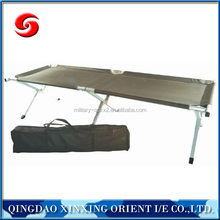 aluminum military army camping folding bed