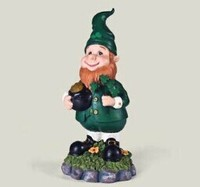 Resin gold pot garden ornament antique leprechaun statues
