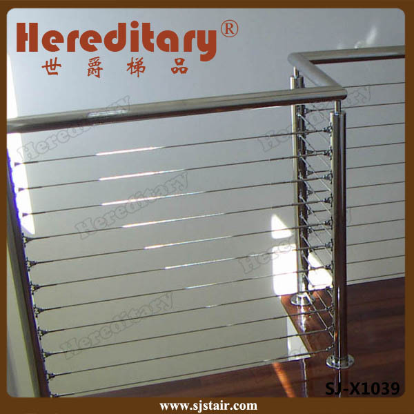 Indoor stainless steel balcony grill cable wire railing for Stainless steel balcony grill design