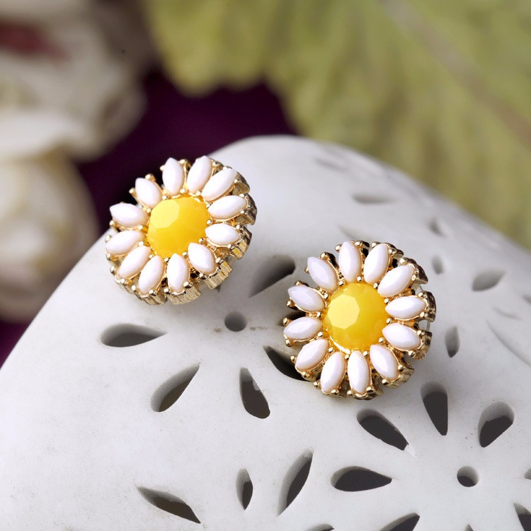 Fashion Chrysanthemum Earring Wholesale NSSJ-0003