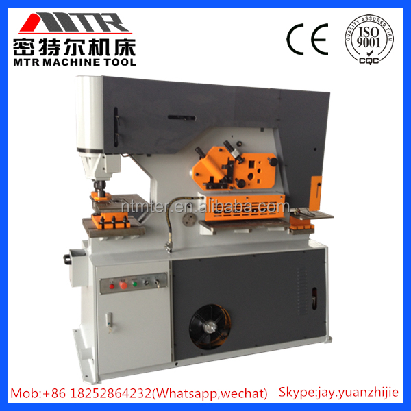 Q35y Series Hydraulic Iron Worker,cut and shear punch a hole machine,cutting moulds for square steel machine
