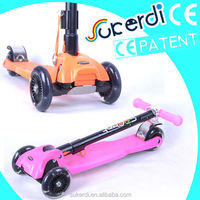 2014 new patent product high quality foldable kids kick scooter kick bike scooter