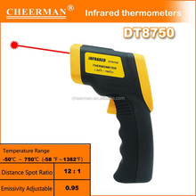 Hot Sale Handheld infrared thermometer accuracy with LCD display for industrial and household useDT8750