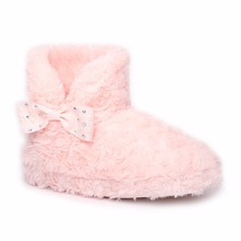 2017 Hot Child Fur Shoe Soft Nice Winter Pink Kids Ankle Boot For Girls