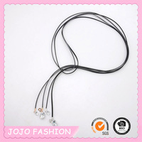 CZ stone pendant necklace wholesale long rope fashion jewelry