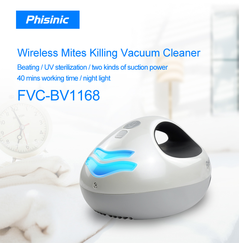 Anti-Dust Mites UV Vacuum Cleaner with HEPA Filtration and Double Powerful Suction Eliminates Mites