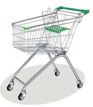 Durable 60-240 Liters supermarket shopping car trolley with wheels