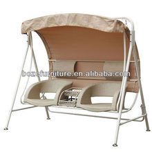 High quality!!Outdoor Rattan double seat swing chair/Europe style swing chair/Double seat rattan hommock