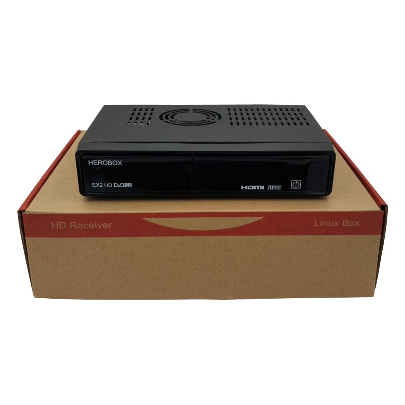 digital satellite receiver china Herobox EX2 Linux Enigma 2 OS mini full hd dvb-s2 satellite receiver
