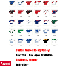 Special Custom High Quality ICE Hockey Jerseys Any logo/Name/Number/Color/Size Sewn On XXS-6XL Embroidery