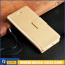 Gold leather Phone case for iphone 6 5 6 plus,In Stock ! Good quality flip leather wallet cover case with photo frame card slots