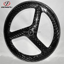 OEM carbon bicycle Tri-spoke wheelset 700C aero wheels carbon 3 spoke wheels