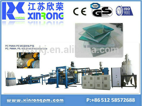 Good quality abs sheet plastic extruder machine