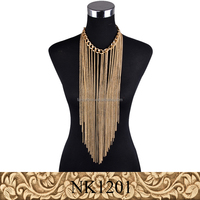 Fancylove Jewelry fashion long tassel chain necklace gold silver color jewelry