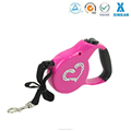 hot sale heart diamond hands free safety manufacturer retractable dog leash