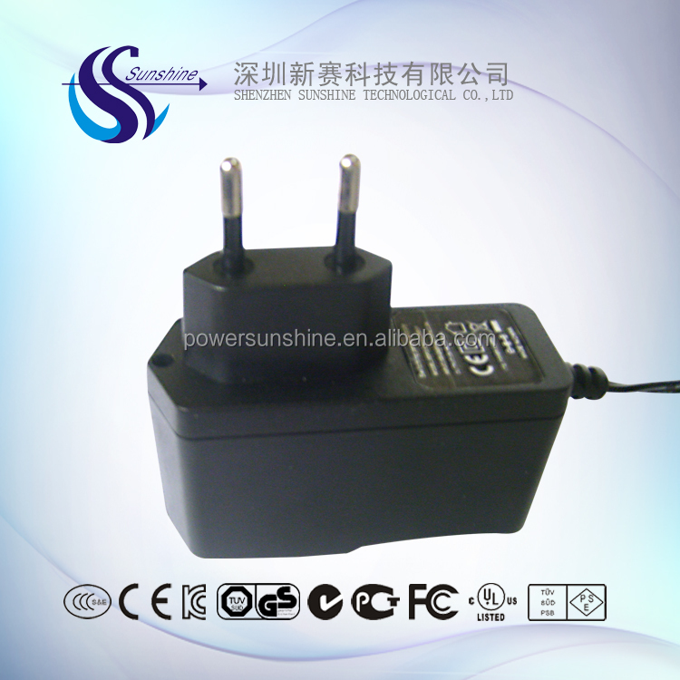 18W 1A 2A power adapter EU plug in power adapter for set top box power adapter with CE GS Certification