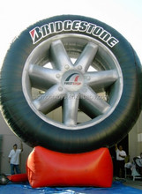 inflatable advertising big outdoor tire model replica for sale