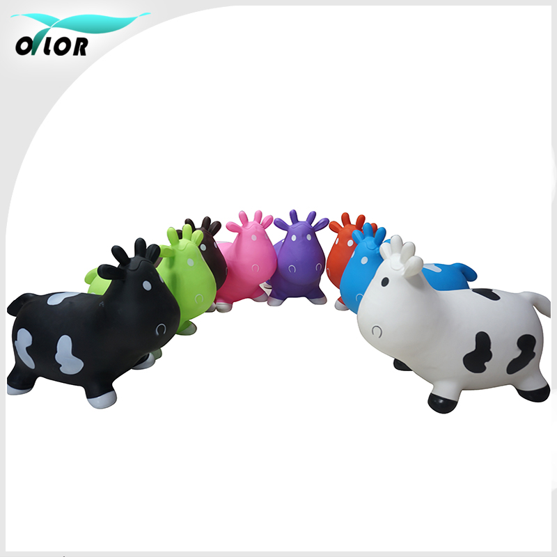NEW non-toxic 6p free PVC air hopper jumping animal cow