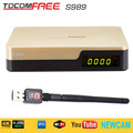 Satellite TV Receiver TocomFree S989 + LNB + AV Cable FTA DVB-S/S2 with Free IKS SKS IPTV for Bolivia / Colombia / South America