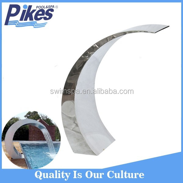 China manufacturer hot sale outdoor swimming pool stainless steel swimming pool waterfall
