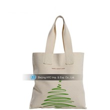 Natural White Plain Cotton custom printed canvas tote bags