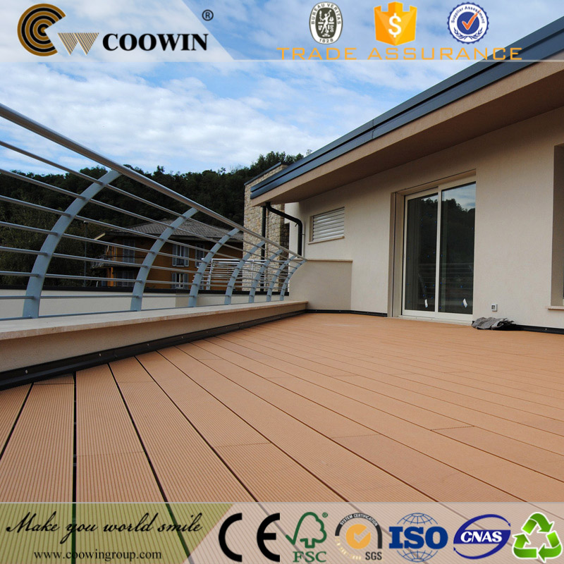 Outdoor waterproof wooden floor WPC composite decking, Removable wooden flooring