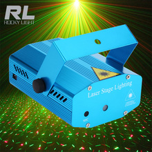 Mini Stage Laser Lights Remote Control RGB Led Beam Light For Dj Party
