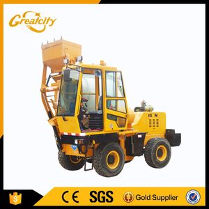 mobile self-loading concrete mixer factory portable concrete mixer with plastic drum