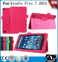 Wholesale Unbreakable High Quality Litchi Grain Tablet Case for Kindle Fire 7 2015