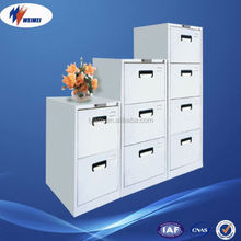 Steel Office Furniture Supplier Elegant Vertical Metal Knock Down Gray Metal 3 Drawer Mobile Pedestal Cabinet